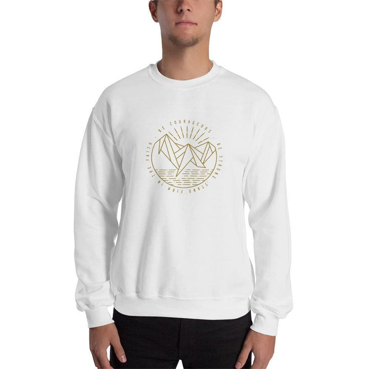Be Courageous, Be Strong, Stand Firm in the Faith Christian Crewneck Sweatshirt