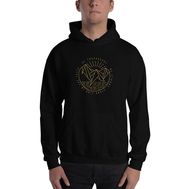 Be Courageous Be Strong Stand Firm in the Faith Pullover Hoodie Sweatshirt - S / Black - Sweatshirts
