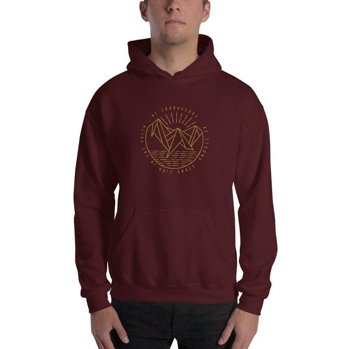 Be Courageous Be Strong Stand Firm in the Faith Pullover Hoodie Sweatshirt - S / Maroon - Sweatshirts