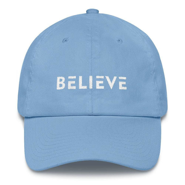 Believe Adjustable Cotton Baseball Cap (Dad Hat) - One-size / Carolina Blue - Hats