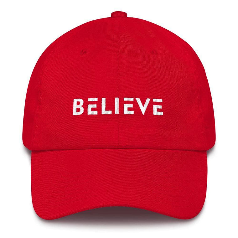 Believe Adjustable Cotton Baseball Cap (Dad Hat)