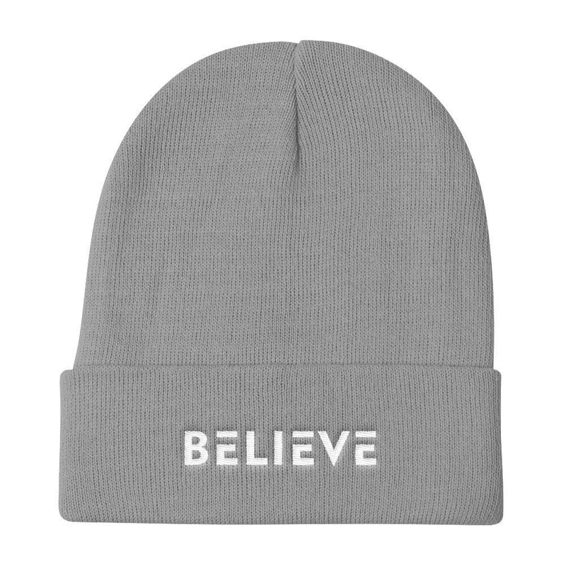 Believe Knit Beanie - One-size / Gray - Hats
