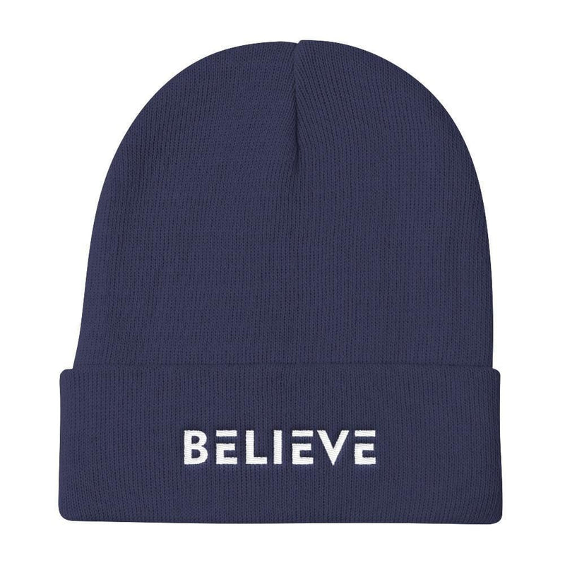 Believe Knit Beanie - One-size / Navy - Hats