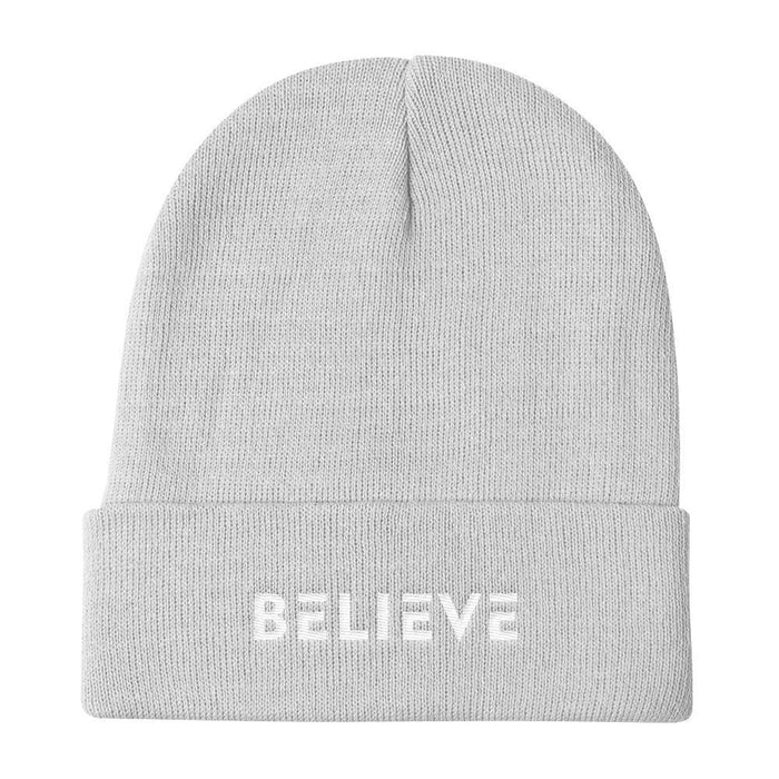Believe Knit Beanie - One-size / White - Hats