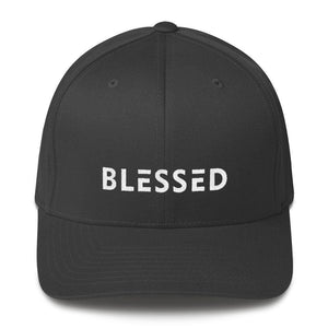 Blessed Fitted Flexfit Twill Baseball Hat - S/m / Dark Grey - Hats
