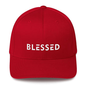 Load image into Gallery viewer, Blessed Fitted Flexfit Twill Baseball Hat - S/m / Red - Hats
