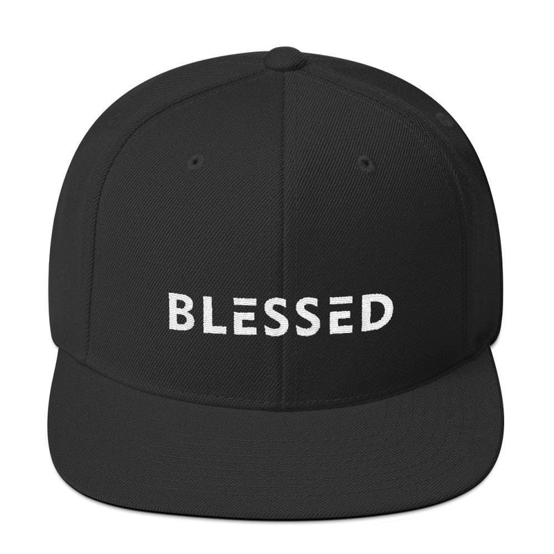 Blessed Flat Brim Snapback Hat - One-size / Black - Hats