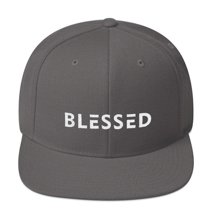 Blessed Flat Brim Snapback Hat - One-size / Dark Grey - Hats