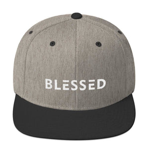 Blessed Flat Brim Snapback Hat - One-size / Heather/Black - Hats