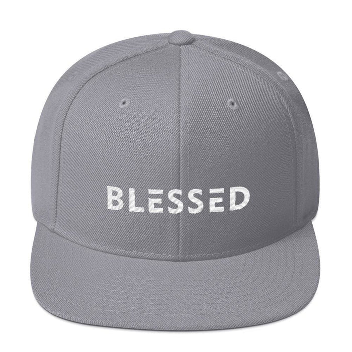 Blessed Flat Brim Snapback Hat - One-size / Silver - Hats