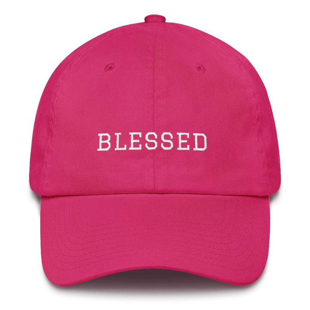 Load image into Gallery viewer, Blessed Graduate Adjustable Christian Cotton Baseball Cap - One-size / Bright Pink - Hats