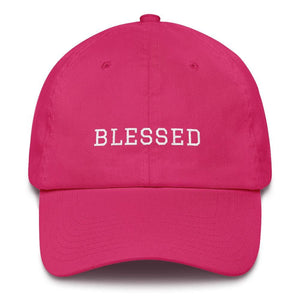 Blessed Graduate Adjustable Christian Cotton Baseball Cap - One-size / Bright Pink - Hats