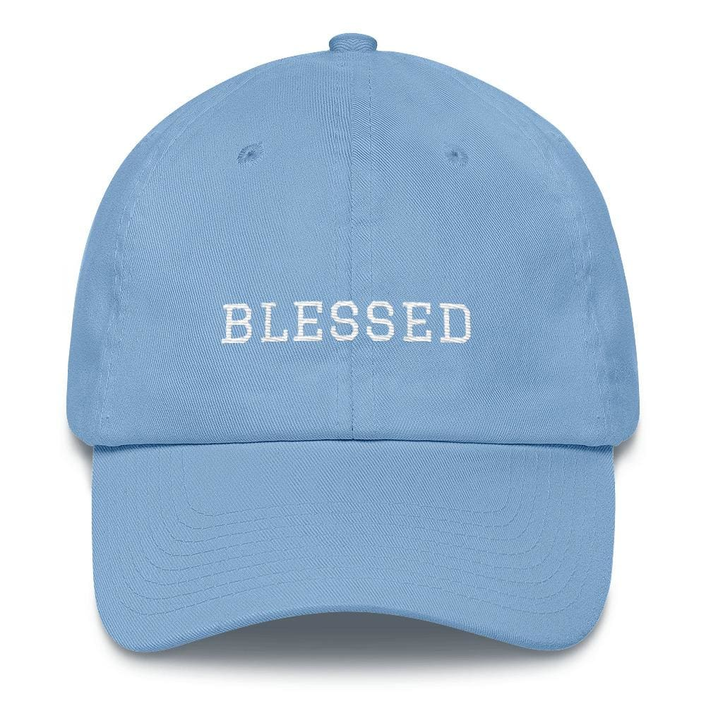 Load image into Gallery viewer, Blessed Graduate Adjustable Christian Cotton Baseball Cap - One-size / Carolina Blue - Hats