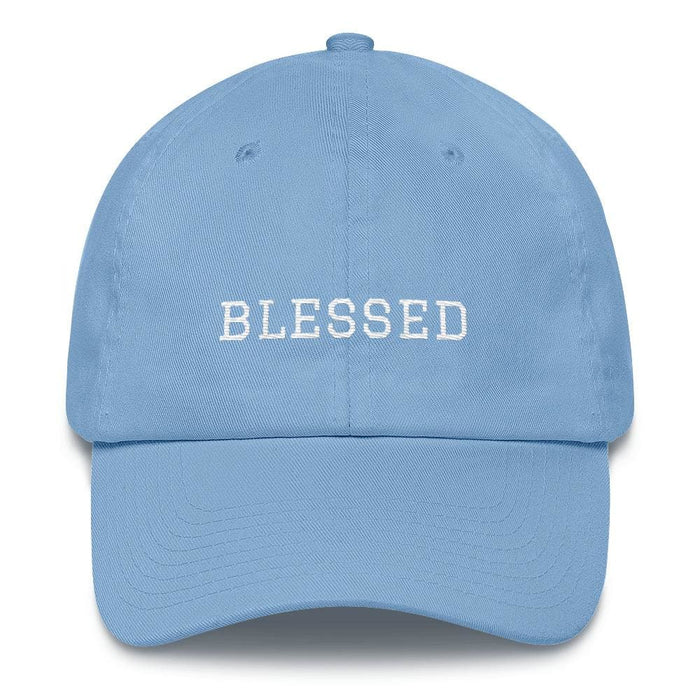 Blessed Graduate Adjustable Christian Cotton Baseball Cap - One-size / Carolina Blue - Hats