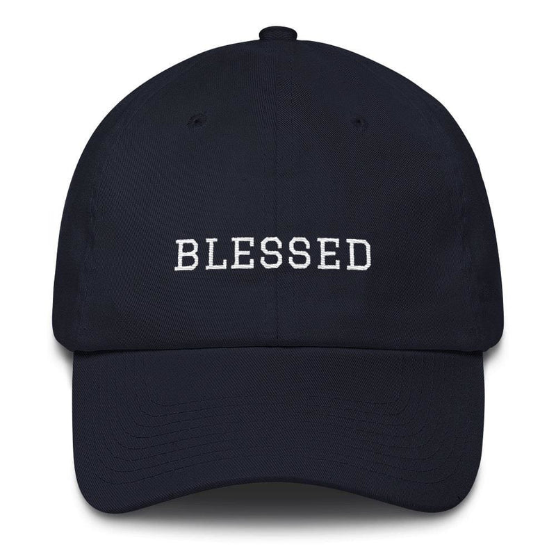 Blessed Graduate Adjustable Christian Cotton Baseball Cap - One-size / Navy - Hats