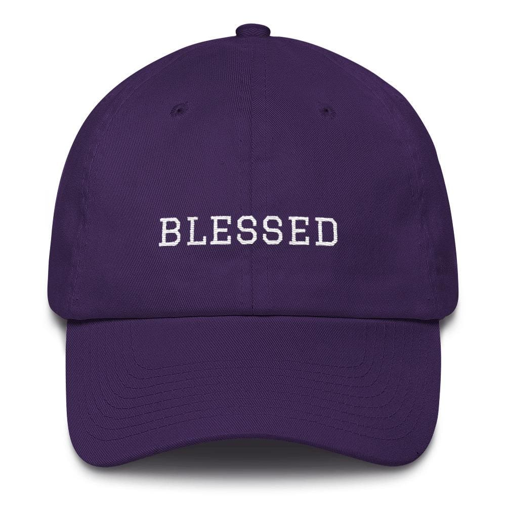 Load image into Gallery viewer, Blessed Graduate Adjustable Christian Cotton Baseball Cap - One-size / Purple - Hats