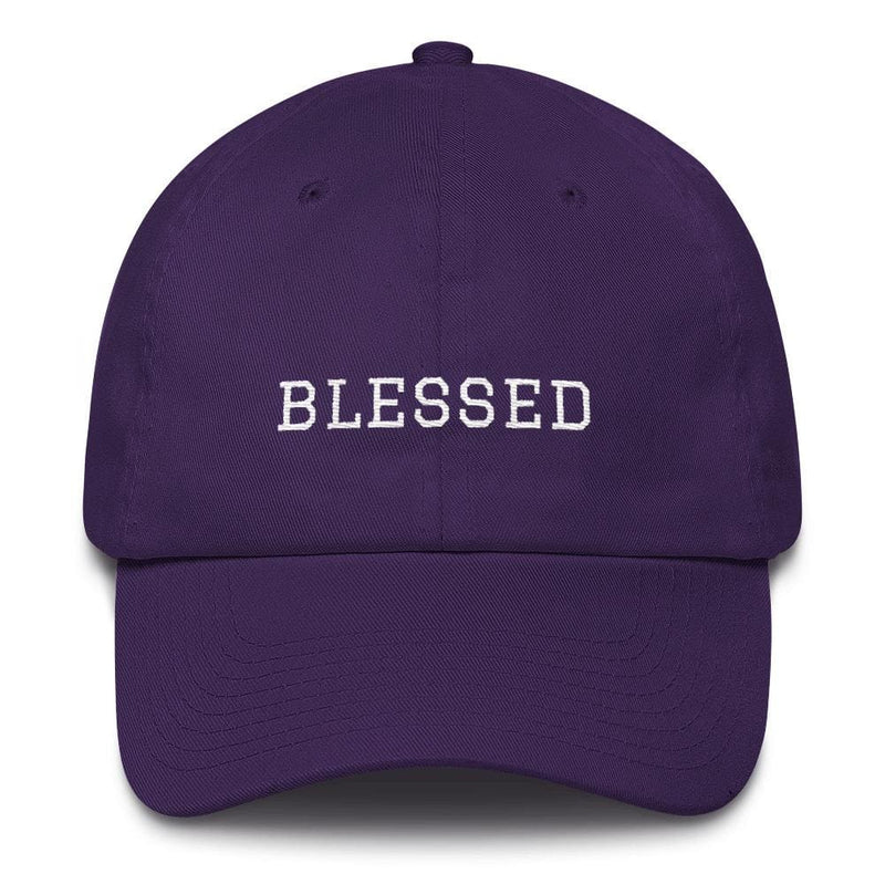 Blessed Graduate Adjustable Christian Cotton Baseball Cap - One-size / Purple - Hats