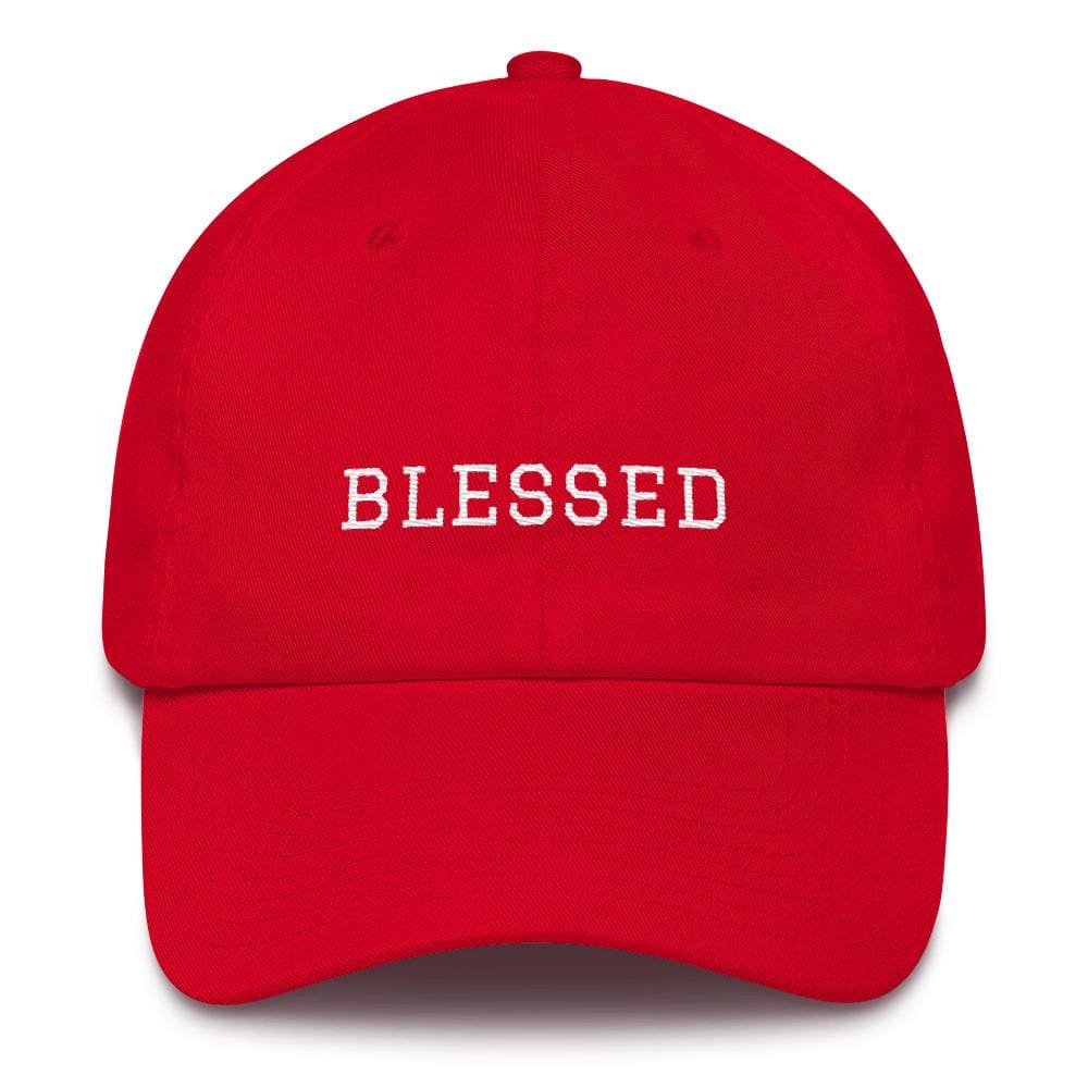 Blessed Graduate Adjustable Christian Cotton Baseball Cap - One-size / Red - Hats