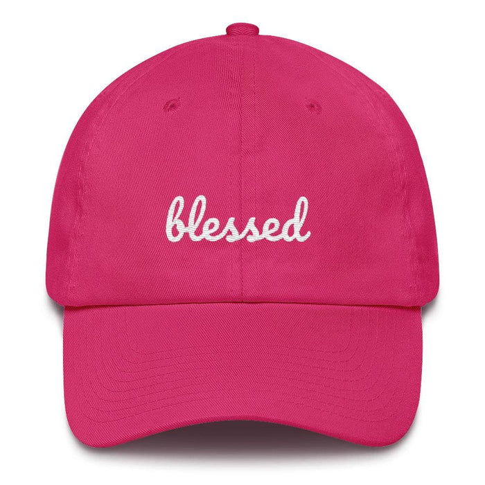 Blessed Scribble Christian Baseball Cap - One-size / Bright Pink - Hats