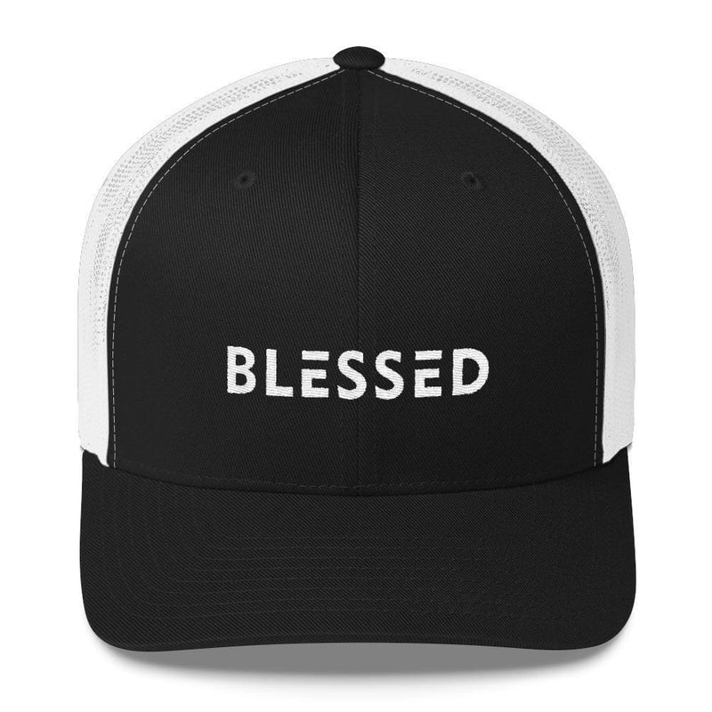 Blessed Snapback Trucker Hat - One-size / Black/ White - Hats