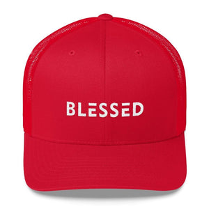 Blessed Snapback Trucker Hat - One-size / Red - Hats