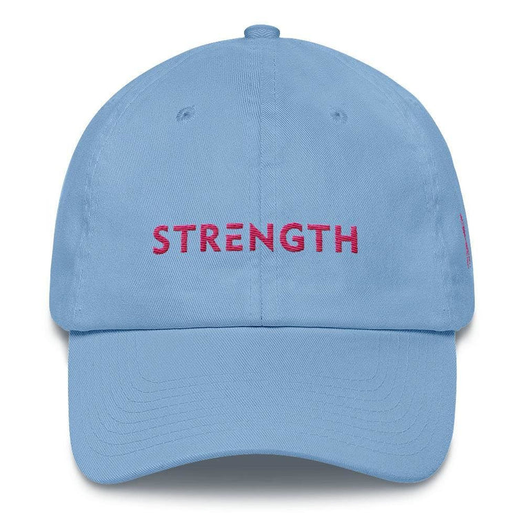 Breast Cancer Awareness Dad Hat with Strength and Pink Ribbon