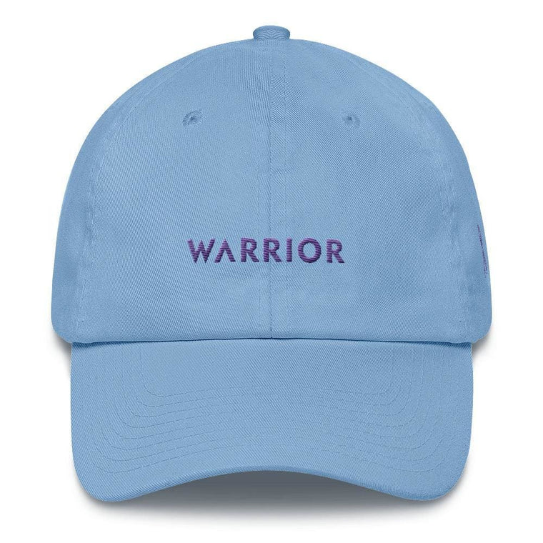 Cancer Awareness and Alzheimer's Awareness Dad Hat with Embroidered Purple Ribbon & Warrior