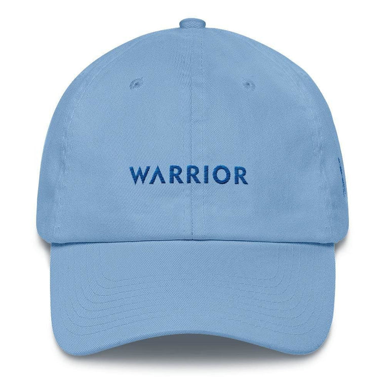 Colon Cancer Awareness Warrior Hat with Blue Ribbon