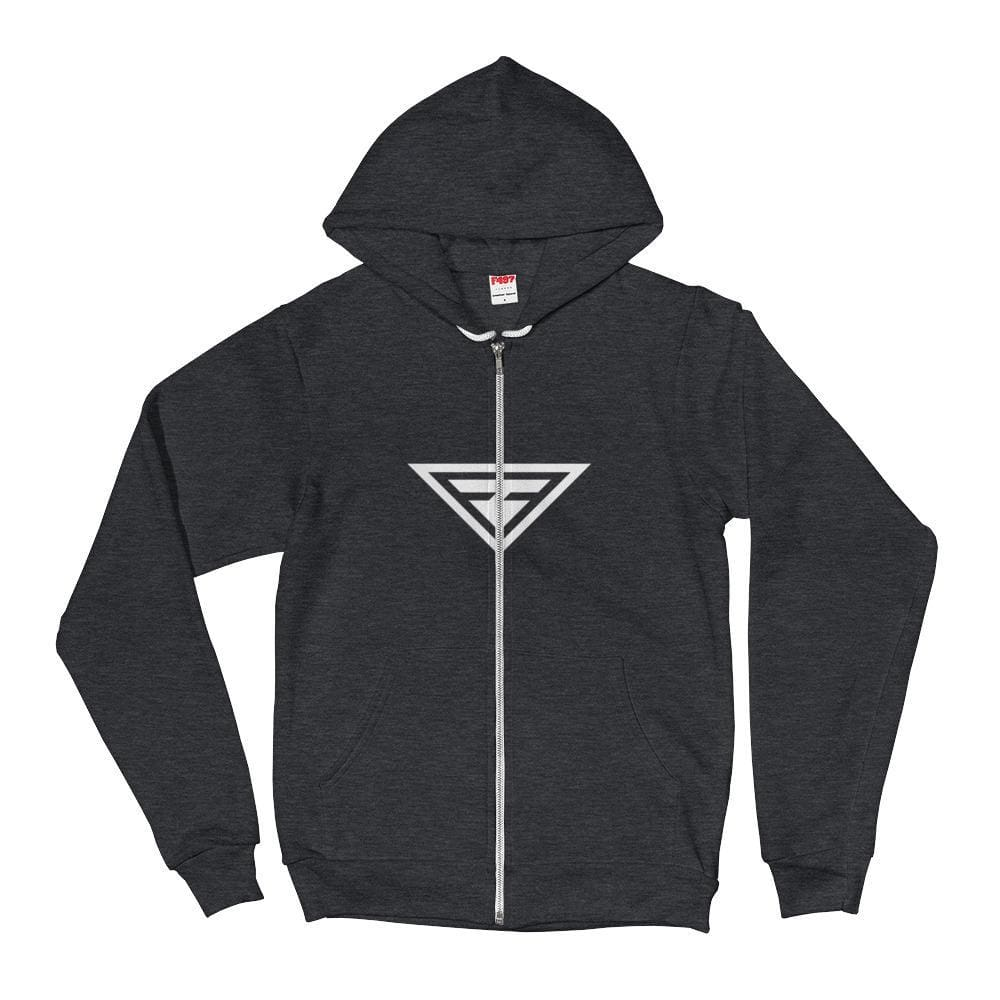 Cross-Chest Hero Hoodie Sweatshirt - S / Dark Heather Grey - Sweatshirts