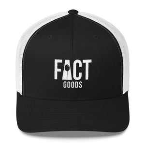 Load image into Gallery viewer, FACT goods Logo Snapback Trucker Hat - One-size / Black - Hats