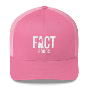 FACT goods Logo Snapback Trucker Hat - One-size / Pink - Hats