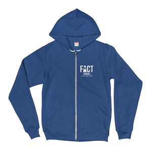 Load image into Gallery viewer, FACT goods Logo Zip Up Hoodie Sweatshirt - XS / Navy - Sweatshirts