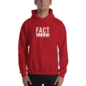 FACT goods Square Logo Pullover Hoodie Sweatshirt - S / Red - Sweatshirts