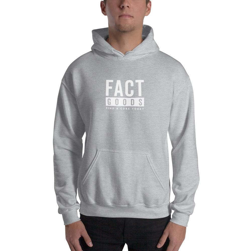 FACT goods Square Logo Pullover Hoodie Sweatshirt - S / Sport Grey - Sweatshirts