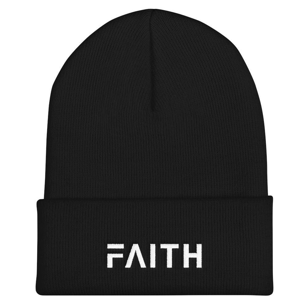 Load image into Gallery viewer, FAITH Christian Beanie - One-size / Black - Hats