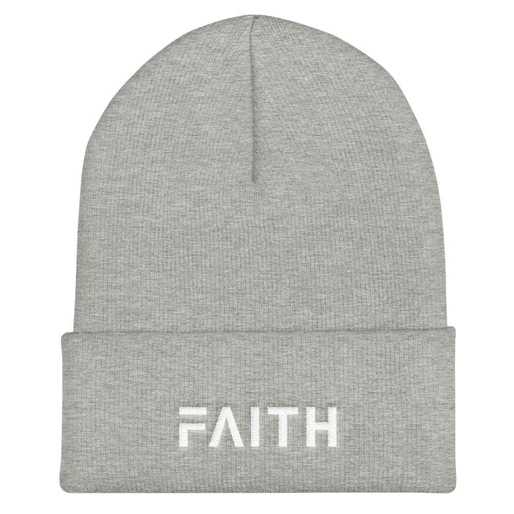 Load image into Gallery viewer, FAITH Christian Beanie - One-size / Heather Grey - Hats