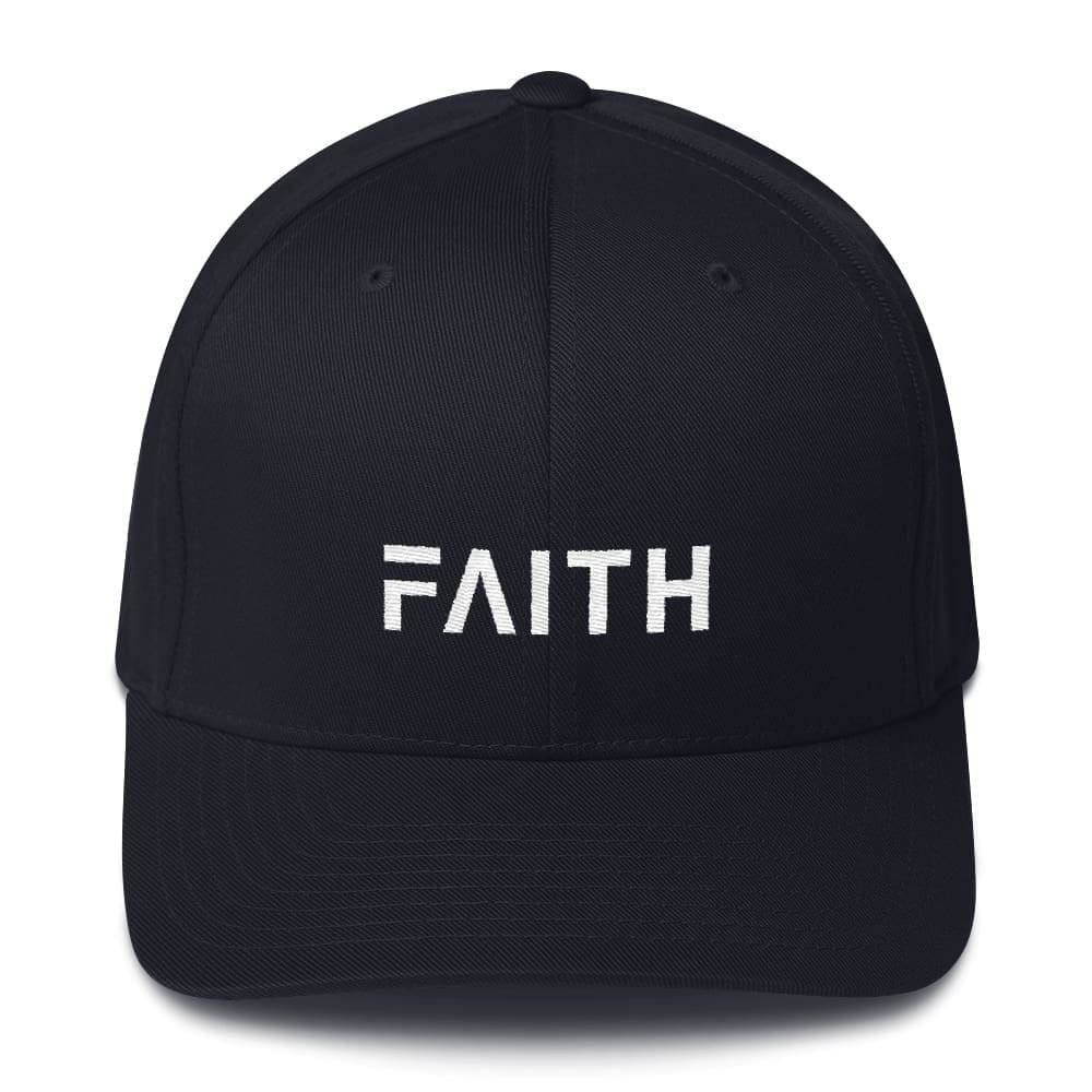 Faith Christian Fitted Flexfit Twill Baseball Hat - S/M / Black - Hats