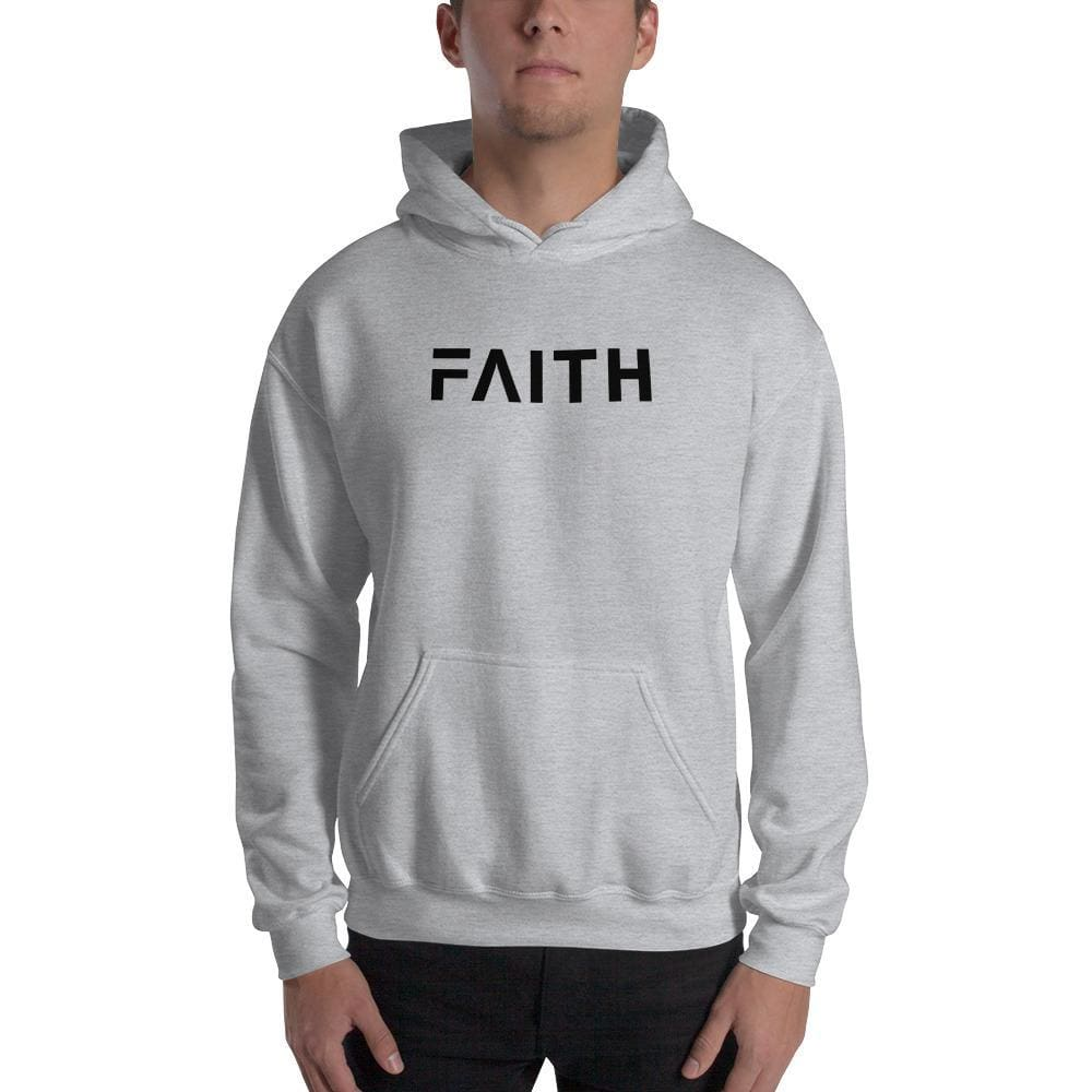 Load image into Gallery viewer, Faith Christian Pullover Hoodie Sweatshirt - S / Sport Grey - Sweatshirts