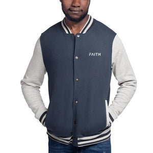 Load image into Gallery viewer, Faith Embroidered Champion Bomber Jacket