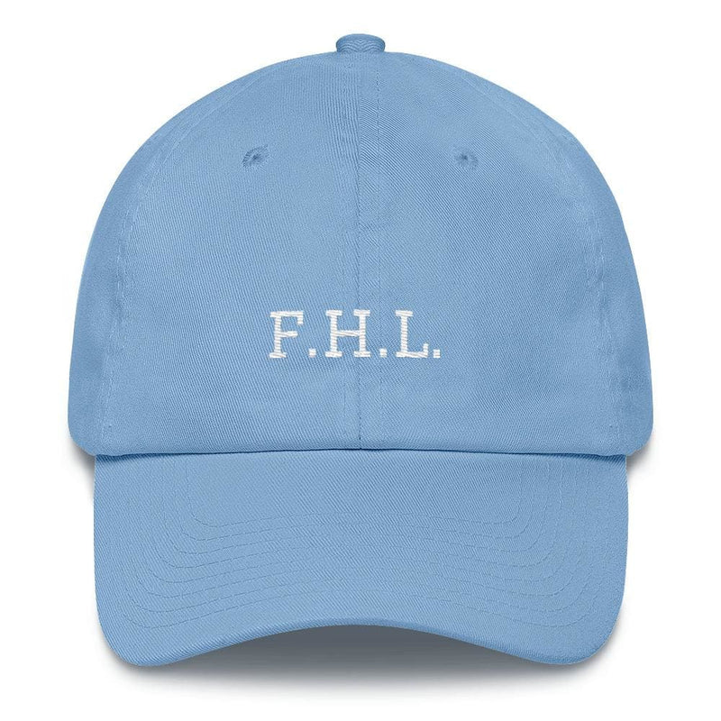 Faith Hope Love Adjustable Christian Baseball Cap - One-size / Carolina Blue - Hats