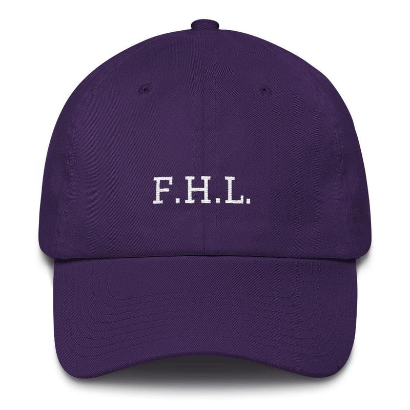 Faith Hope Love Adjustable Christian Baseball Cap - One-size / Purple - Hats