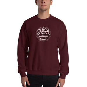 Faith Makes Things Possible Not Easy Christian Sweatshirt - S / Maroon - Sweatshirts