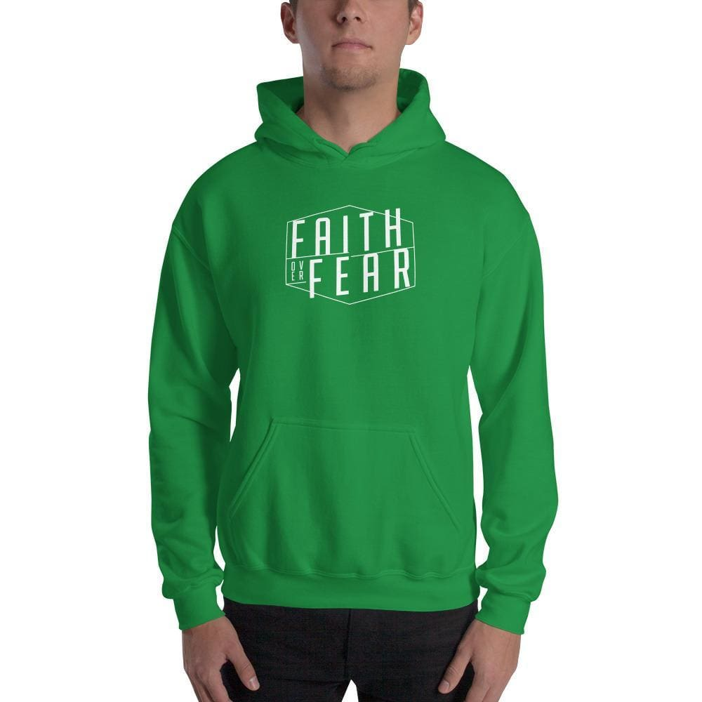 Faith over Fear Christian Hoodie Sweatshirt - S / Irish Green - Sweatshirts