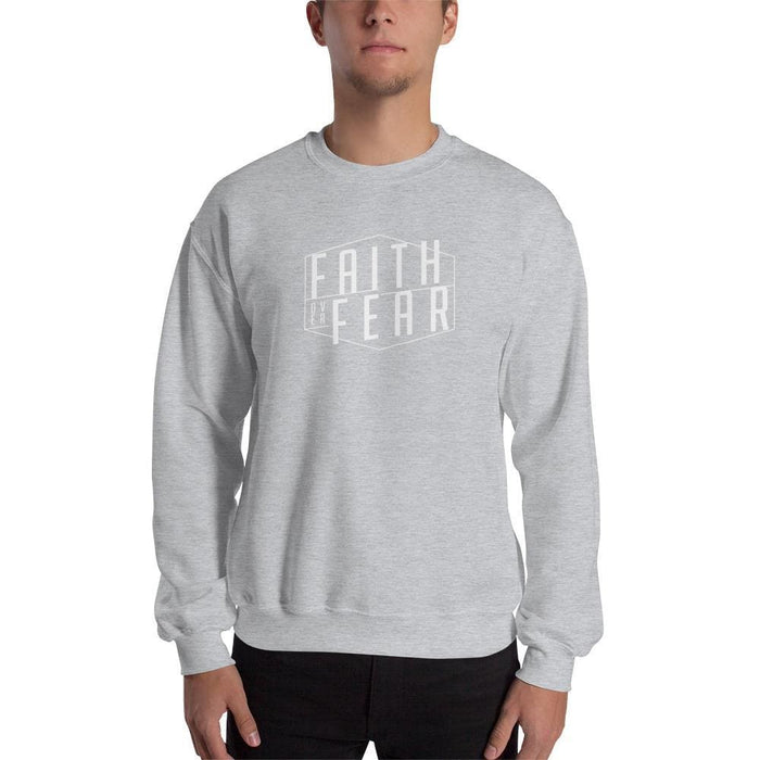 Faith over Fear Christian Sweatshirt - S / Sport Grey - Sweatshirts
