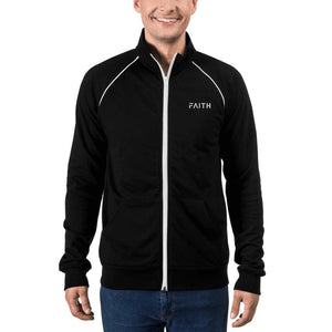 Load image into Gallery viewer, Faith Piped Fleece Track Jacket - Jacket