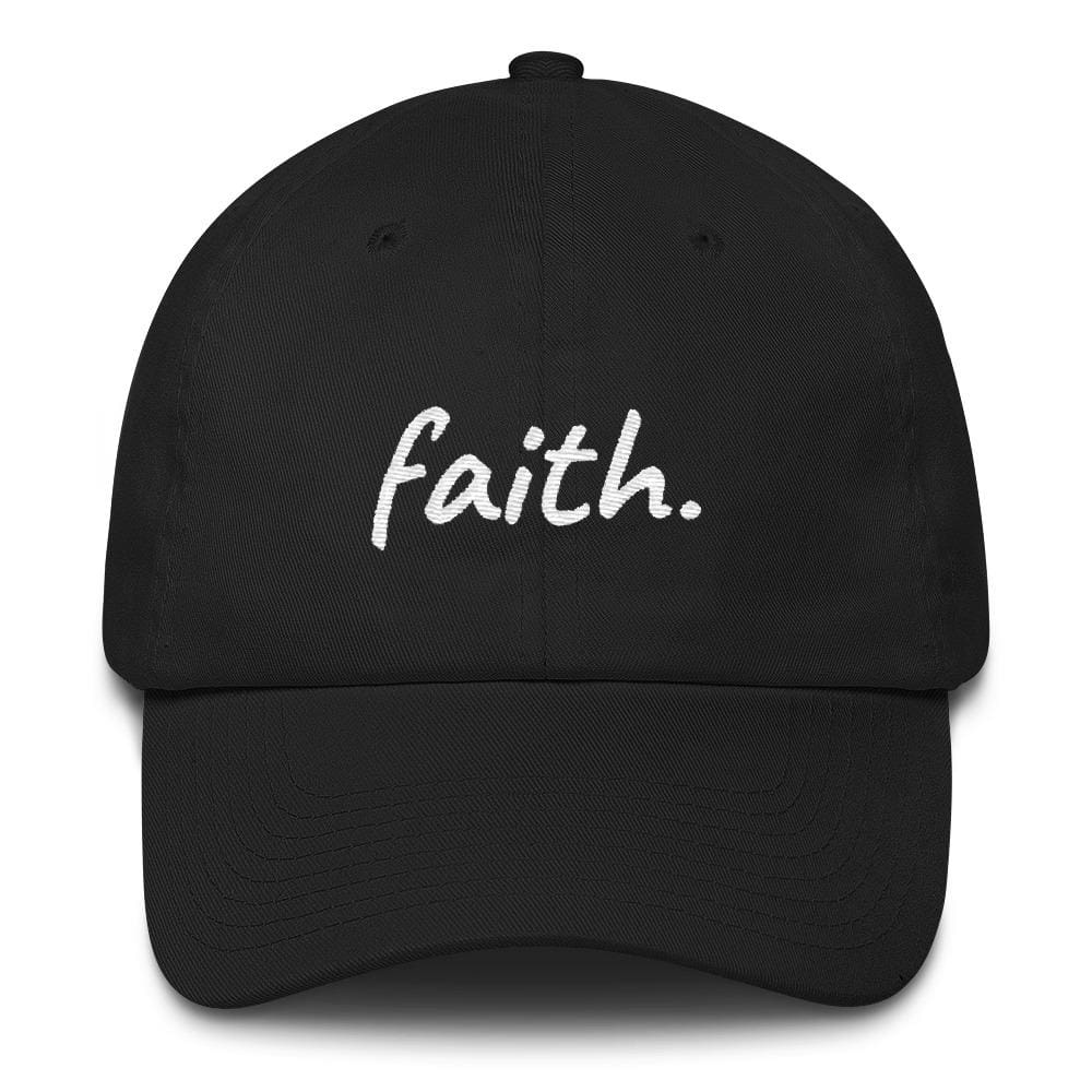 Faith Scribble Christian Cotton Baseball Cap - One-size / Black - Hats