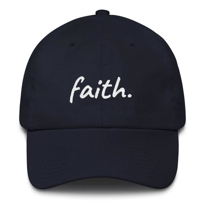 Faith Scribble Christian Cotton Baseball Cap - One-size / Navy - Hats