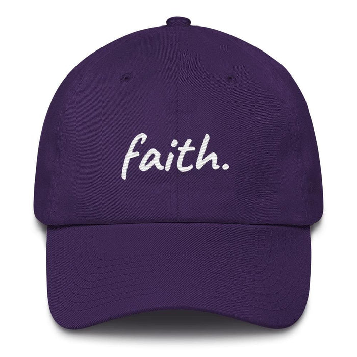 Faith Scribble Christian Cotton Baseball Cap - One-size / Purple - Hats