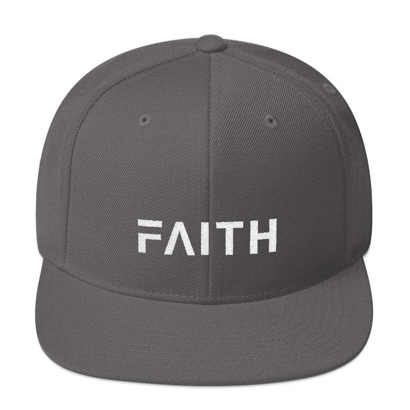 Faith Snapback Hat with Flat Brim - One-size / Dark Grey - Hats