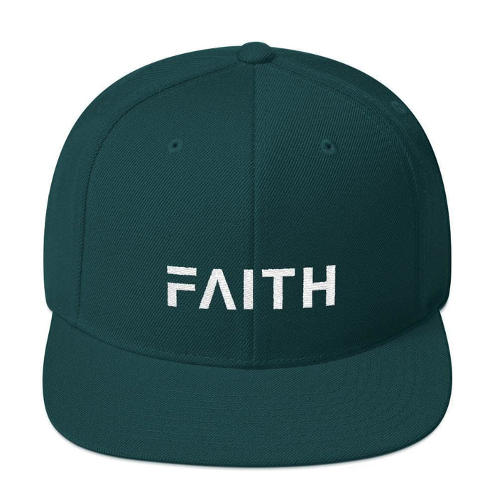 Faith Snapback Hat with Flat Brim - One-size / Spruce - Hats